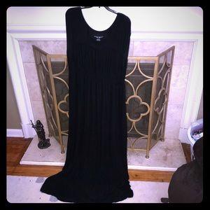 Liz Lange Black Maxi Maternity Dress Size XL EUC🖤